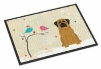 Christmas Presents between Friends Mastiff Indoor or Outdoor Mat 24x36