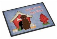 Dog House Collection Chocolate Labrador Indoor or Outdoor Mat 24x36