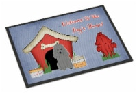Dog House Collection Poodle Silver Indoor or Outdoor Mat 24x36