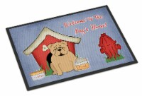 Dog House Collection English Bulldog Fawn Indoor or Outdoor Mat 24x36