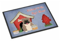 Dog House Collection English Bulldog Grey Brindle  Indoor or Outdoor Mat 24x36 - 24Hx36W