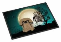Halloween Scary Pekingnese Tan Indoor or Outdoor Mat 18x27 - 18Hx27W