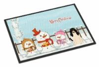 Merry Christmas Carolers Swiss Hound Indoor or Outdoor Mat 18x27