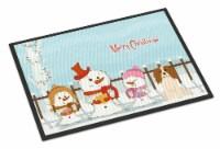 Merry Christmas Carolers Cavalier Spaniel Indoor or Outdoor Mat 18x27