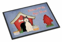 Dog House Collection West Siberian Laika Spitz Indoor or Outdoor Mat 18x27 - 18Hx27W