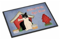 Dog House Collection Russo-European Laika Spitz Indoor or Outdoor Mat 18x27 - 18Hx27W