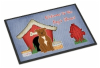 Dog House Collection Staffordshire Bull Terrier Brown Indoor or Outdoor Mat 18x2 - 18Hx27W