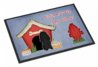 Dog House Collection Poodle Black Indoor or Outdoor Mat 18x27