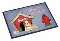 Dog House Collection Shih Tzu Red White Indoor or Outdoor Mat 18x27 - 18Hx27W