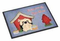 Dog House Collection Pekingnese Cream Indoor or Outdoor Mat 18x27
