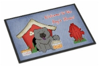 Dog House Collection Chow Chow Blue Indoor or Outdoor Mat 18x27 - 18Hx27W