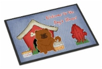 Dog House Collection Chow Chow Red Indoor or Outdoor Mat 18x27