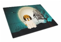 Halloween Scary Petit Basset Griffon Veenden Glass Cutting Board Large - 12Hx15W