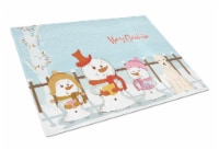 Merry Christmas Carolers Soft Coated Wheaten Terrier Glass Cutting Board Large - 12Hx15W