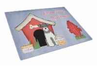 Dog House Collection Miniature Schanuzer Salt and Pepper Glass Cutting Board Lar