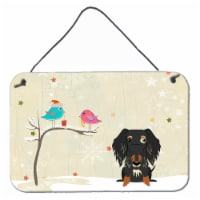 Christmas Presents between Friends Wire Haired Dachshund Dapple Wall or Door Han - 8HX12W