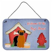 Dog House Collection Fawn Boxer Wall or Door Hanging Prints - 8HX12W