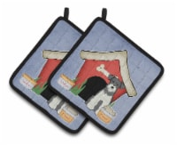 Dog House Collection Miniature Schanuzer Salt and Pepper Pair of Pot Holders