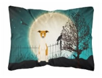 Halloween Scary Whippet Canvas Fabric Decorative Pillow