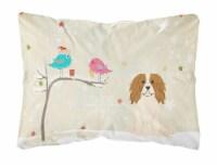 Christmas Presents between Friends Cavalier Spaniel Canvas Fabric Decorative Pil - 12Hx16W