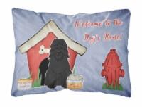 Dog House Collection Bouvier des Flandres Canvas Fabric Decorative Pillow