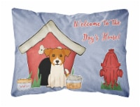 Dog House Collection Jack Russell Terrier Canvas Fabric Decorative Pillow