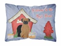 Dog House Collection Brindle Boxer Canvas Fabric Decorative Pillow - 12Hx16W