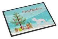 Bedlington Terrier Merry Christmas Tree Indoor or Outdoor Mat 18x27