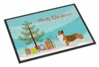 Corgi Merry Christmas Tree Indoor or Outdoor Mat 18x27