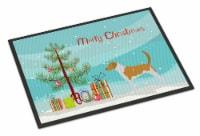 American Foxhound Merry Christmas Tree Indoor or Outdoor Mat 24x36