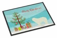 Komondor Merry Christmas Tree Indoor or Outdoor Mat 24x36