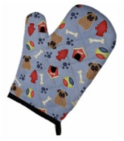 Carolines Treasures  BB2618OVMT Dog House Collection Pug Brown Oven Mitt - Large