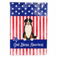 Patriotic USA Bernese Mountain Dog Flag Canvas House Size