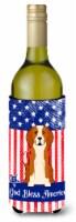 Patriotic USA English Foxhound Wine Bottle Beverge Insulator Hugger - 750 ml