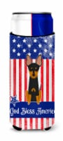 Patriotic USA English Toy Terrier Michelob Ultra Hugger for slim cans - Slim Can