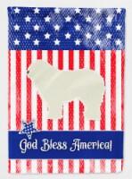 Carolines Treasures  BB3355CHF USA Patriotic Komondor Flag Canvas House Size