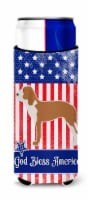 USA Patriotic Spanish Hound Michelob Ultra Hugger for slim cans - Slim Can