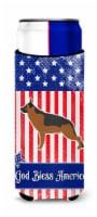 USA Patriotic German Shepherd Michelob Ultra Hugger for slim cans - Slim Can