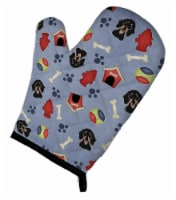 Dog House Collection Smooth Black and Tan Dachshund Oven Mitt
