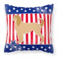 USA Patriotic Afghan Hound Fabric Decorative Pillow