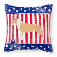 USA Patriotic Staffordshire Bull Terrier Fabric Decorative Pillow