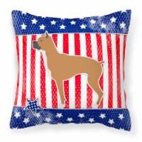 Carolines Treasures  BB3353PW1818 USA Patriotic Boxer Fabric Decorative Pillow - 18Hx18W