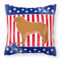 USA Patriotic Leonberger Fabric Decorative Pillow