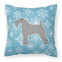 Winter Snowflake Kerry Blue Terrier Fabric Decorative Pillow