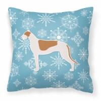 Winter Snowflake Greyhound Fabric Decorative Pillow - 18Hx18W