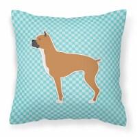 Boxer Checkerboard Blue Fabric Decorative Pillow - 18Hx18W