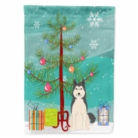 Merry Christmas Tree West Siberian Laika Spitz Flag Canvas House Size