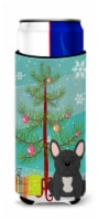 Merry Christmas Tree French Bulldog Black Michelob Ultra Hugger for slim cans