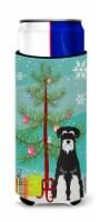 Merry Christmas Tree Standard Schnauzer Salt and Pepper Michelob Ultra Hugger fo