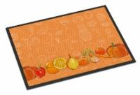 Fruits and Vegetables in Orange Indoor or Outdoor Mat 24x36